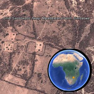 The bustling metropolis of Chief Sikobokobo village.